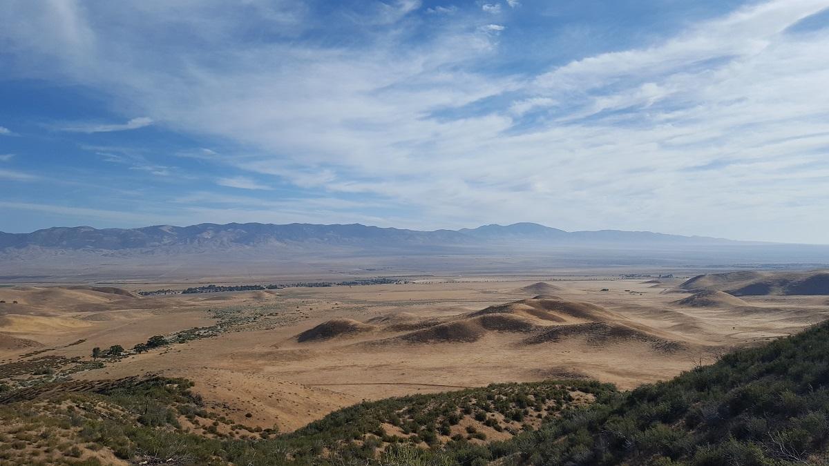 Vue du désert de Mojave